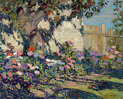 Asters and Apples, 1917 | James Edward Hervey Macdonald | Gemälde Reproduktion
