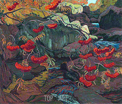 Rowanberries or Mountain Ash, 1922 | James Edward Hervey Macdonald | Gemälde Reproduktion