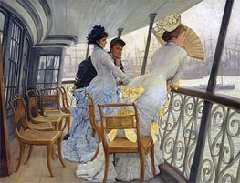 The Gallery of H.M.S. Calcutta, 1877 by Joseph Tissot | Painting Reproduction