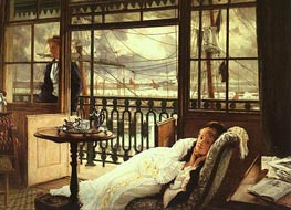 A Passing Storm, 1876 by Joseph Tissot | Painting Reproduction