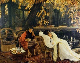 A Convalescent, c.1876 by Joseph Tissot | Painting Reproduction