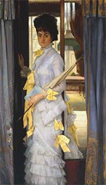A Portrait (Miss Lloyd), 1876 by Joseph Tissot | Painting Reproduction