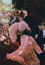 The Political Lady, c.1883/85 by Joseph Tissot | Painting Reproduction