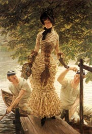 On the Thames, c.1882 by Joseph Tissot | Painting Reproduction