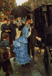 The Traveller (The Bridesmaid), c.1883/85 by Joseph Tissot | Painting Reproduction