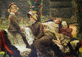 The Garden Bench, c.1882 by Joseph Tissot | Painting Reproduction