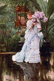 The Bunch of Lilacs, c.1875 by Joseph Tissot | Painting Reproduction