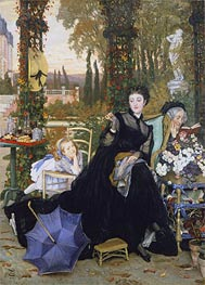 A Widow, 1868 by Joseph Tissot | Painting Reproduction