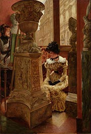 In the Louvre, c.1883/85 by Joseph Tissot | Painting Reproduction