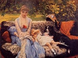 Quiet, c.1881 by Joseph Tissot | Painting Reproduction