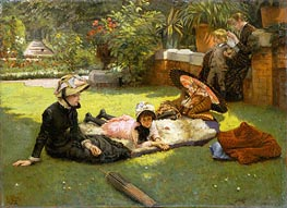 In the Sunshine, c.1881 by Joseph Tissot | Painting Reproduction