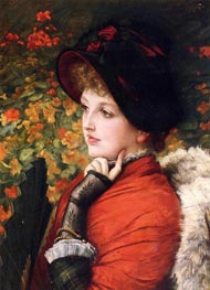 Type of Beauty (Kathleen Newton), 1880 by Joseph Tissot | Painting Reproduction