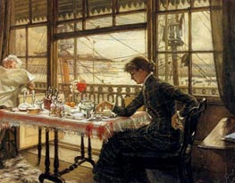 Room Overlooking the Harbor, c.1876/78 by Joseph Tissot | Painting Reproduction