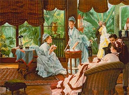 In the Conservatory (The Rivals), c.1875/78 by Joseph Tissot | Painting Reproduction