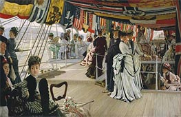 The Ball on Shipboard, c.1874 by Joseph Tissot | Painting Reproduction