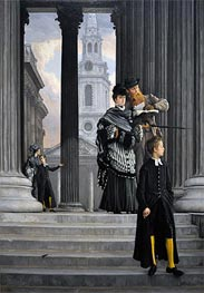 London Visitors, c.1874 by Joseph Tissot | Painting Reproduction