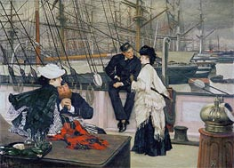 The Captain and the Mate, 1873 by Joseph Tissot | Painting Reproduction