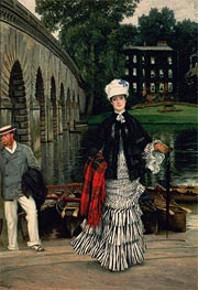 The Return from the Boating Trip, 1873 by Joseph Tissot | Painting Reproduction