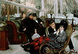 The Last Evening, 1873 by Joseph Tissot | Painting Reproduction
