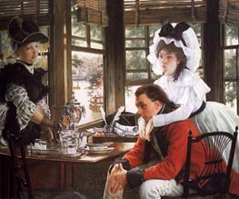 Bad News, The Parting, 1872 by Joseph Tissot | Painting Reproduction