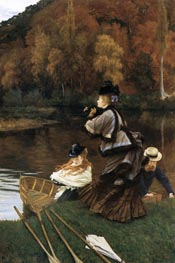 Autumn on the Thames (Nuneham Courtney), c.1875 by Joseph Tissot | Painting Reproduction