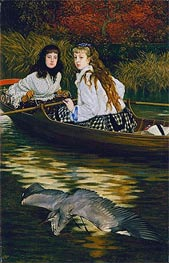 On the Thames - A Heron, c.1871/72 by Joseph Tissot | Painting Reproduction