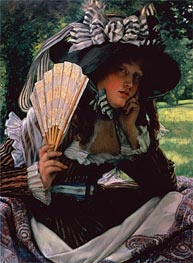 Young Lady with a Fan, c.1870/71 by Joseph Tissot | Painting Reproduction