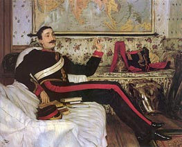 Captain Frederick Gustavus Burnaby, 1870 by Joseph Tissot   Painting Reproduction