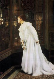 The Stairs (The Staircase), 1869 by Joseph Tissot   Painting Reproduction