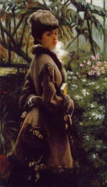 In the Greenhouse, c.1867/69 by Joseph Tissot   Painting Reproduction