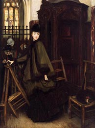 In Church, c1865/69 by Joseph Tissot   Painting Reproduction