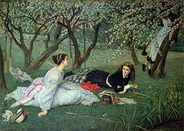 Spring, 1865 by Joseph Tissot | Painting Reproduction