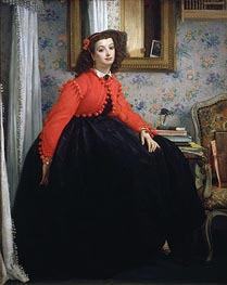 Young Woman in a Red Jacket, 1864 by Joseph Tissot | Painting Reproduction