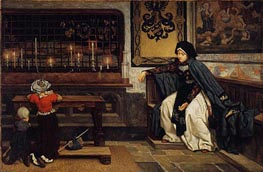Marguerite in Church, c.1860 by Joseph Tissot   Painting Reproduction