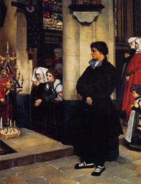 During the Service (Martin Luther's Doubts), 1860 by Joseph Tissot | Painting Reproduction