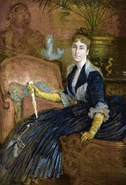Portrait of Marie-Heloise Jeanne Ferre May, Undated by Joseph Tissot | Painting Reproduction