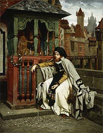 Marguerite at the Ramparts, 1861 by Joseph Tissot | Painting Reproduction