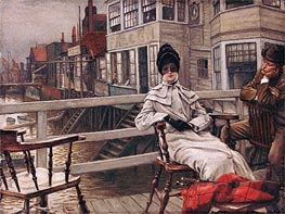 Waiting for the Boat at Greenwich, undated by Joseph Tissot | Painting Reproduction