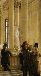 The North Stairs at the Louvre , undated by Joseph Tissot | Painting Reproduction