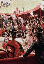 Women of Paris - The Circus Lover (The Sporting Women), 1885 by Joseph Tissot | Painting Reproduction