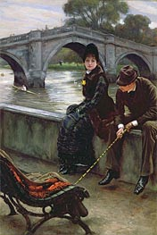Richmond Bridge, c.1878 by Joseph Tissot | Painting Reproduction