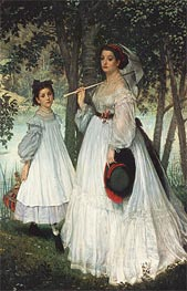 The Two Sisters, 1863 by Joseph Tissot | Painting Reproduction
