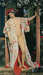 Japanese Girl Bathing, 1864 by Joseph Tissot | Painting Reproduction