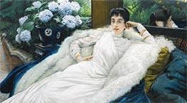 Porträt von Clotilde Briatte, Comtesse Pillet-Will, undated von Joseph Tissot | Gemälde-Reproduktion