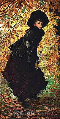 October, 1877 | Joseph Tissot| Painting Reproduction