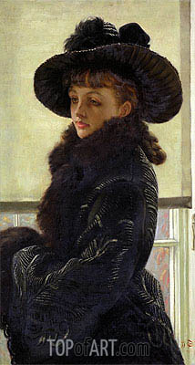 Mavourneen (Portrait of Kathleen Newton), 1877 | Joseph Tissot| Painting Reproduction