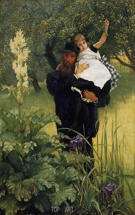 The Widower, 1877 | Joseph Tissot | Gemälde Reproduktion