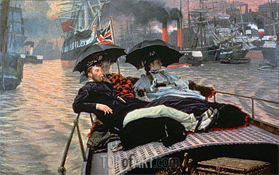 The Thames, c.1876 | Joseph Tissot | Painting Reproduction