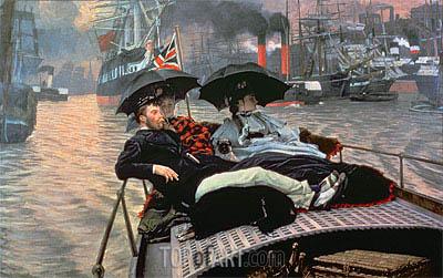 Joseph Tissot | The Thames, c.1876