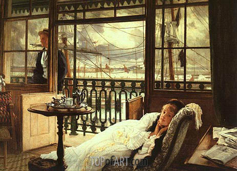 A Passing Storm, 1876 | Joseph Tissot | Painting Reproduction